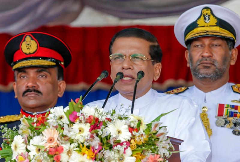 Sri Lanka's President Maithripala Sirisena has asked Donald Trump to pressure the UN Human Rights Council to drop war crimes allegations against the country's troops