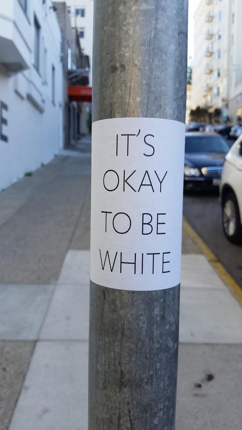 'It's okay to be white' signs placed on East Tennessee State University's campus