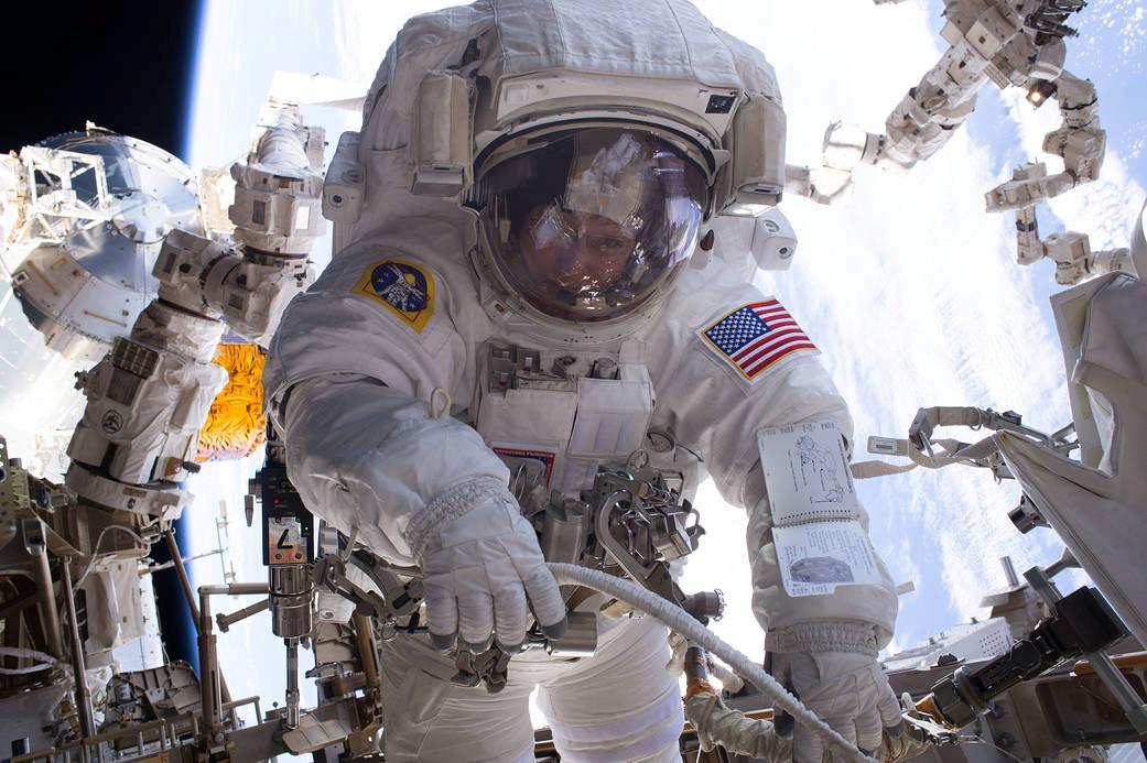 <p>Astronaut Peggy Whitson is seen during a spacewalk during Expedition 50 aboard the International Space Station in this photo released by NASA on Jan.6, 2017. (Photo: NASA/Handout via Reuters) </p>
