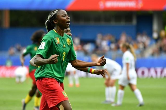 Ajara Nchout scored both Cameroon's goals against New Zealand, one has been nominated for a Puskas award (AFP Photo/Pascal GUYOT)