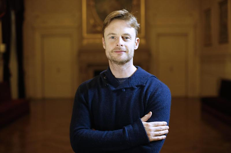 "British choreographer Christopher Wheeldon, director of ""An American in Paris"", poses at the ""Theatre du Chatelet"" in Paris on November 12, 2014"