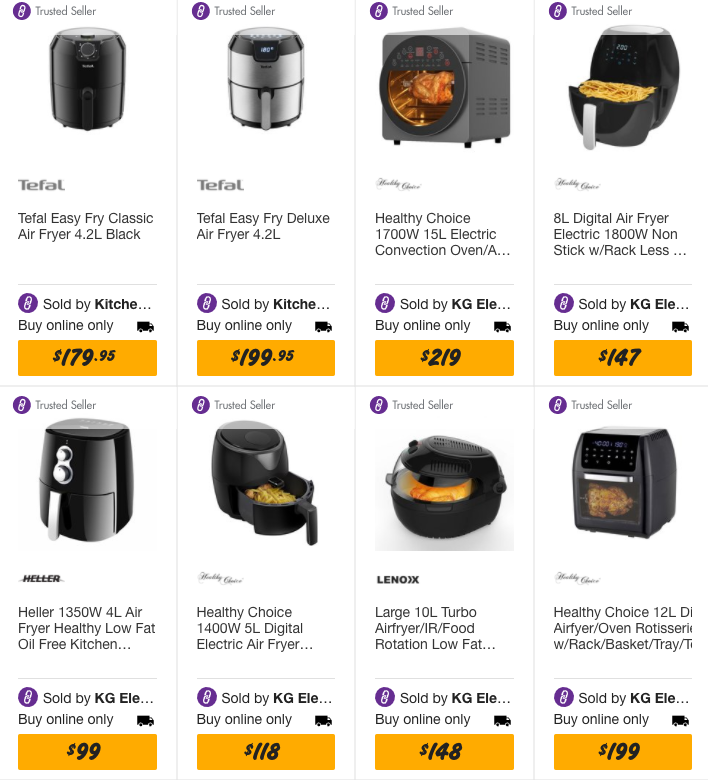 bunnings air fryers online