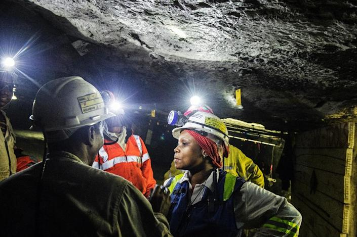 The mining industry has been ravaged by tumbling metal prices and demand fears (AFP Photo/Mujahid Safodien)