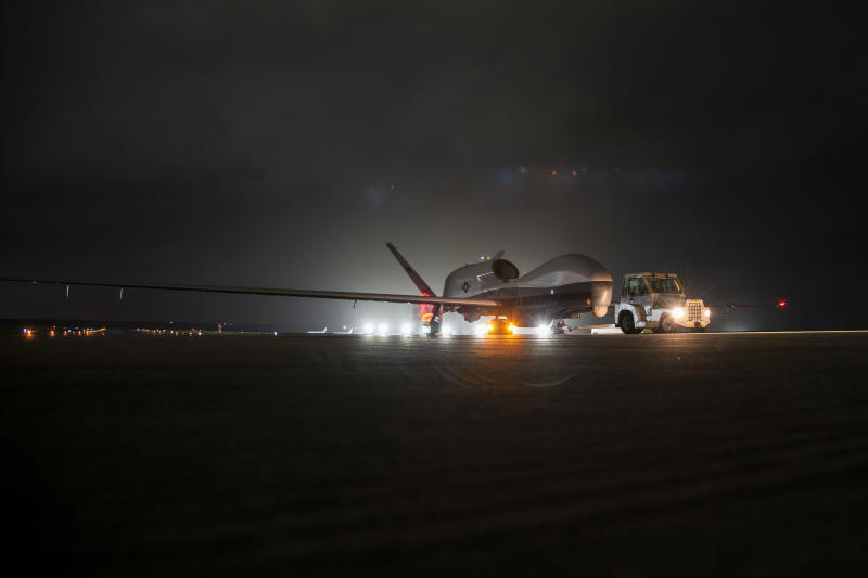 US Navy's first Triton drones arrive in Guam