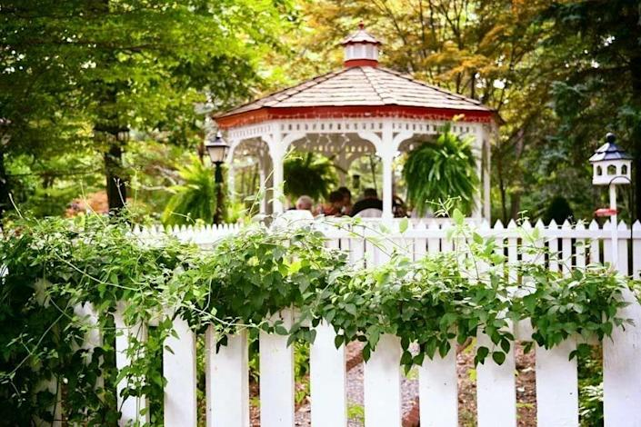 """<p><strong>Great Falls, Virginia</strong></p><p>This restaurant has a gazebo ... end of story. You're bound to feel the love in at <strong><a href=""""https://www.laubergechezfrancois.com/"""" rel=""""nofollow noopener"""" target=""""_blank"""" data-ylk=""""slk:L'Auberge Chez Francois"""" class=""""link rapid-noclick-resp"""">L'Auberge Chez Francois</a></strong>, a family-owned restaurant founded back in 1954. Since then, they've impressed people with their impeccable French cuisine. </p>"""
