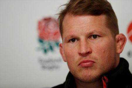 England's Dylan Hartley during the press conference. Action Images via Reuters/Andrew Boyers/File Photo