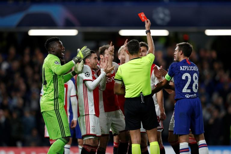 Ajax had been 4-1 up away to Chelsea but two red cards in quick succession contributed to them having to settle for a remarkable Champions League draw