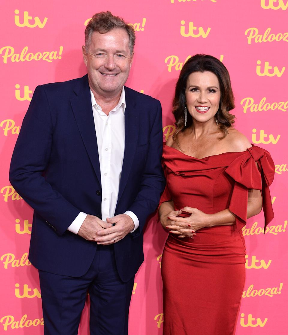 LONDON, ENGLAND - NOVEMBER 12:  Piers Morgan and Susanna Reid attends the ITV Palooza 2019 at the Royal Festival Hall on November 12, 2019 in London, England. (Photo by Jeff Spicer/Getty Images)