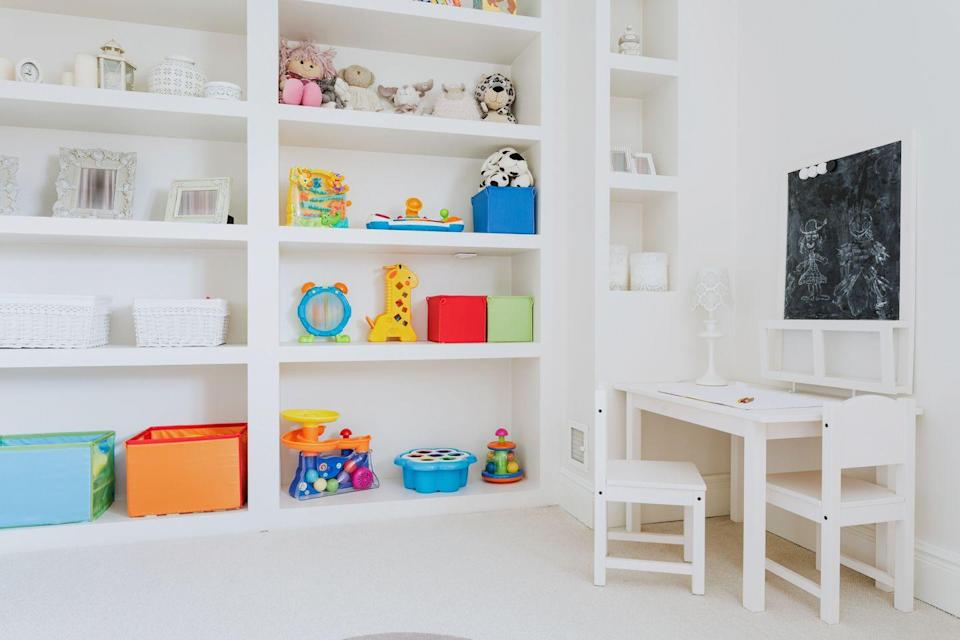 <p>Kids need to understand that storage is finite, and that continuing to collect eventually leads to clutter and chaos. When they get a new toy or new jeans, send an old one to the donation bin. </p>