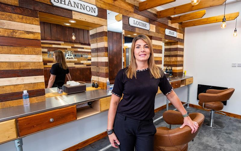 Frances Anderson, who has run Giffnock Barbers for 15 years, is looking forward to seeing her loyal customers again - Stuart Nicol/Stuart Nicol Photography