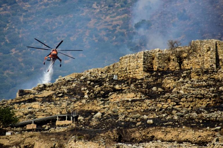 Greek wildfire spares key archaeological site