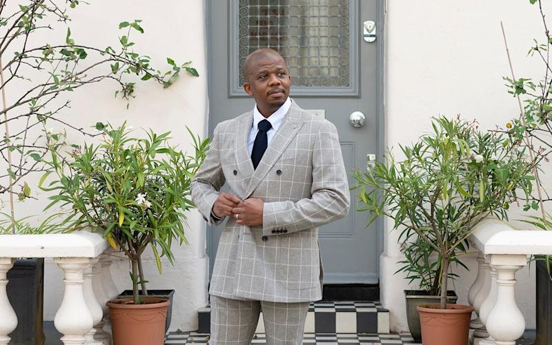 With a wedding fast approaching and nothing appropriate to wear, Ademola sought expert help - Christopher Pledger