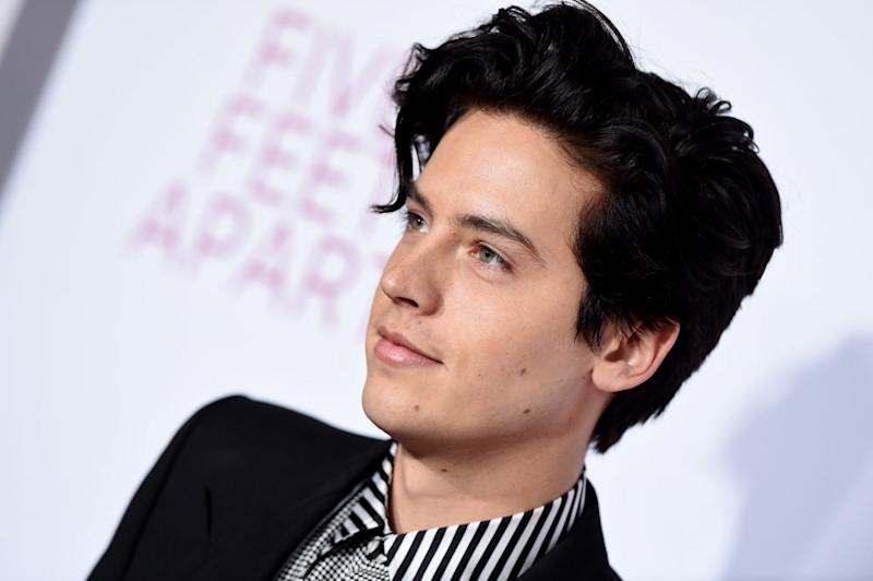 Image result for cole sprouse dark hair