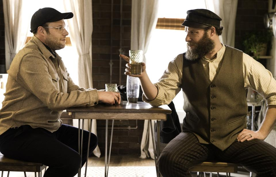 Seth Rogen stars as dual characters in HBO Max's An American Pickle. (Photo: HBO Max)
