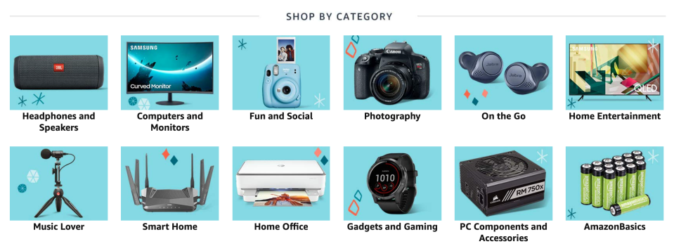 You can now shop by category with Amazon's Holiday Electronics Gift Guide