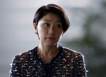 Japan's new Economy, Trade and Industry Minister Yuko Obuchi arrives at Prime Minister Shinzo Abe's official residence in Tokyo September 3, 2014. REUTERS/Yuya Shino