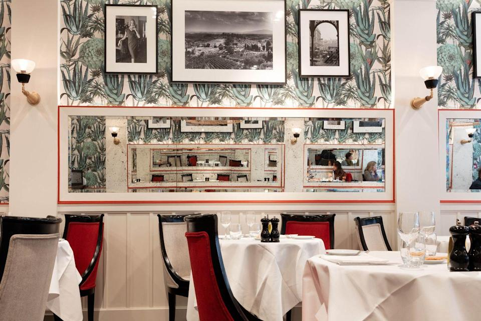 """<p>Franco's on Jermyn Street has been serving Londoners bowls of creamy pasta and excellent wine for over 70 years. One of the city's first luxury Italian restaurants has a deliciously traditional air – think white tablecloths, red banquettes and impeccably presented staff, who really can't do enough for you. Open for breakfast, lunch and dinner, this is a perfect spot to entertain business guests. No one could fail to be delighted by its creamy burrata, nor linguine with lobster, garlic, tomato and chilli. Its meat dishes also score high, be it the honey-glazed duck or the pain-fried venison. Franco's is an institution – a badge it still markedly deserves.</p><p><a href=""""https://www.francoslondon.com/"""" rel=""""nofollow noopener"""" target=""""_blank"""" data-ylk=""""slk:Franco's"""" class=""""link rapid-noclick-resp"""">Franco's</a>, 61 Jermyn St, St. James's, SW1Y 6LX</p>"""