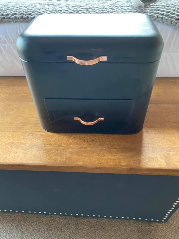 Leanne purchased the bread bin from Kmart last year. Photo: Facebook (supplied).