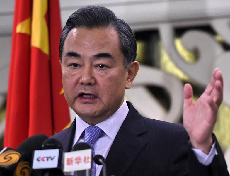 Chinese Foreign Minister Wang Yi signalled Beijing was in no mood to talk about the South China Sea during the Kuala Lumpur meeting Tuesday (AFP Photo/Roslan Rahman )
