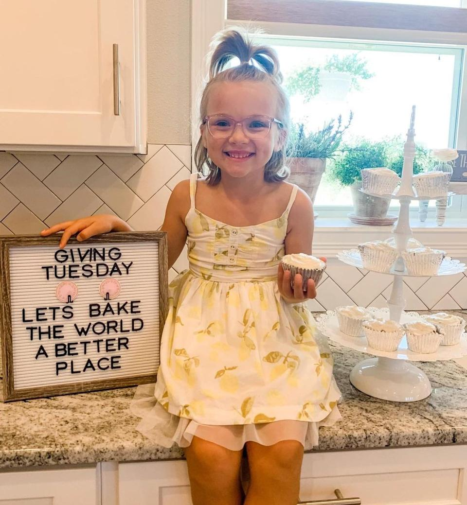 Kinsley holding a cupcake. Source: Media Drum/Australscope