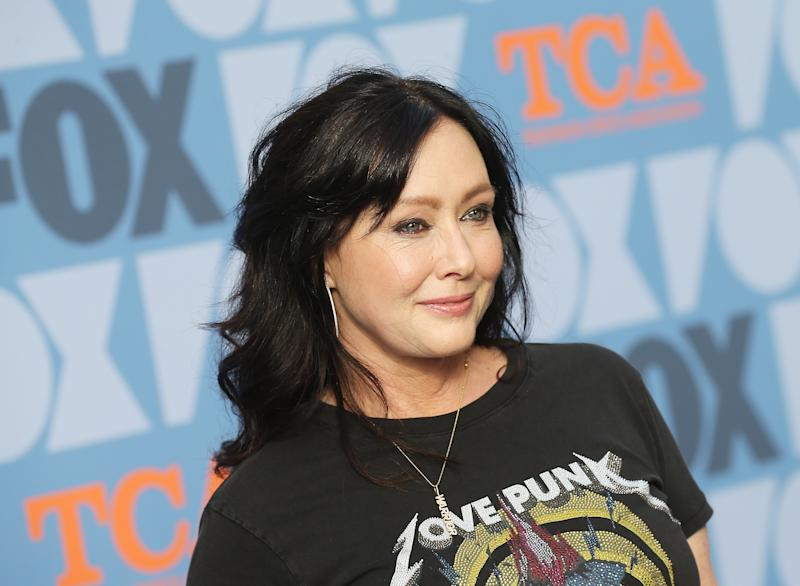 US actress Shannen Doherty attends the FOX Summer TCA 2019 All-Star Party at Fox Studios on August 7, 2019 in Los Angeles. (Photo by Michael Tran / AFP) (Photo credit should read MICHAEL TRAN/AFP via Getty Images)