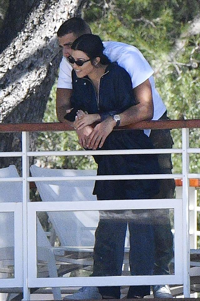 <p>She hasn't made him Instagram official yet, but the mother of three did take her new beau to Cannes. The lovebirds snuggled up together while enjoying the view from a Hotel du Cap-Eden-Roc balcony. (Photo: BACKGRID) </p>