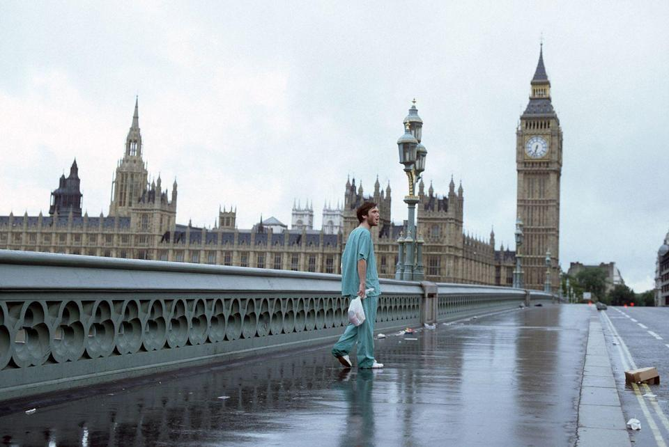 <p>This was another great year for scary movies (<em>The Ring</em>, <em>Resident Evil</em>, <em>Cabin Fever</em>), but <em>28 Days Later</em> is special because it was one of the first to try something truly new with the zombie genre. The zombies in this aren't just lumbering drool monsters; they're fast, mad, and did I mention fast? The soundtrack is amazing too. </p>