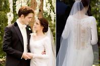 <p>If you ever wondered what vampires wear to their weddings (anyone? just me?), it seems like they stick with the traditional suit and a white Carolina Herrera gown, as Bella and Edward demonstrated in <em>Twilight</em>. </p>