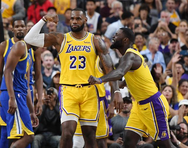 LeBron James, Lance Stephenson and the Lakers are looking to flex out west. (Getty)
