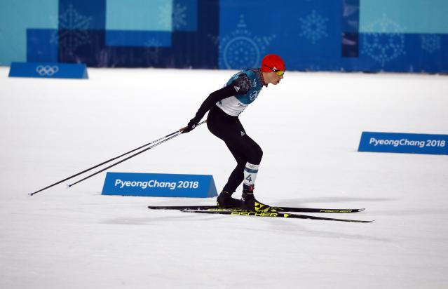 Nordic Combined Events - Pyeongchang 2018 Winter Olympics - Men's Individual 10 km Final - Alpensia Cross-Country Skiing Centre - Pyeongchang, South Korea - February 20, 2018 - Eric Frenzel of Germany in action. REUTERS/Kai Pfaffenbach