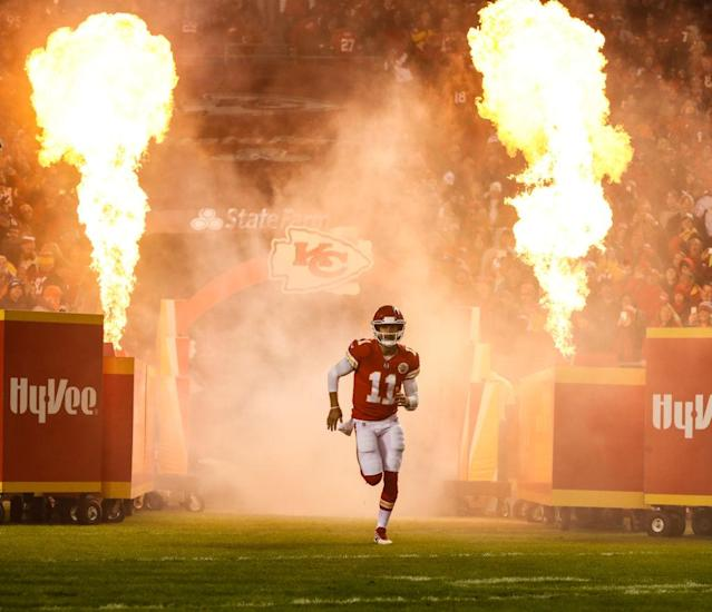 Alex Smith brings the heat, but he could use some personalized music, too. (Getty)