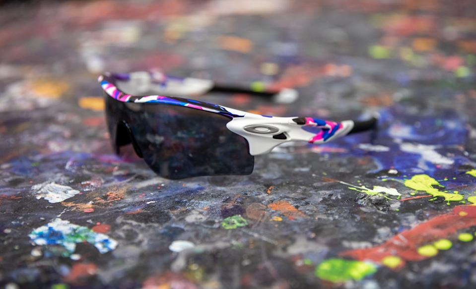 The shades feature a revolutionary spin technique designed to replicate the style of brushstrokes. (Photo by Oakley)