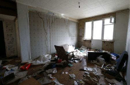 FILE PHOTO: An interior view shows an apartment in an old five-storey residential building, which is demolished as part of the city authorities' project, in Moscow