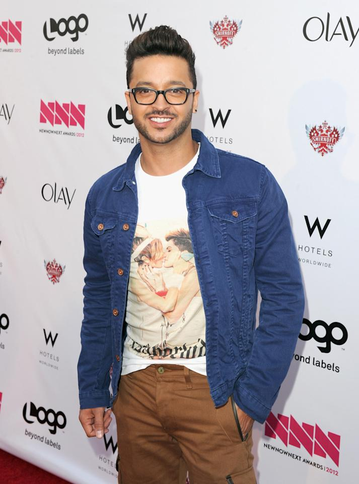 Jai Rodriguez arrives at LOGO's NewNowNext Awards at Avalon on April 5, 2012 in Hollywood, California.