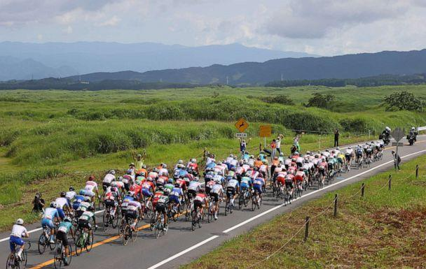 PHOTO: A general view inside the peloton  during the Men's road race at the Fuji International Speedway on day one of the Tokyo 2020 Olympic Games on July 24, 2021 in Oyama, Shizuoka, Japan. (Tim De Waele/Getty Images)