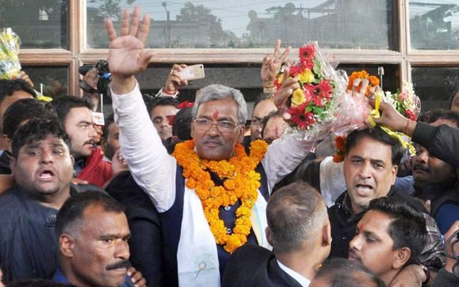 <p>BJP leader Trivendra Singh Rawat takes oath as the new Chief Minister of Uttarakhand.</p>