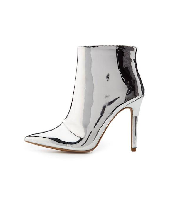 "<p>Charlotte Russe Qupid Metallic Ankle Booties, $24, <a href=""https://www.charlotterusse.com/qupid-metallic-ankle-booties/302346323.html?mrkgcl=776&mrkgadid=3208896685&rkg_id=h-cd68ae945012af739fd475391cadd3c2_t-1510864725&cid=cse:POLY:%3CDEVICE%3E:302346323&rkg_attid=3208896685&device=desktop&country=%3CCOUNTRY%3E&keyword=ankle%20booties"" rel=""nofollow noopener"" target=""_blank"" data-ylk=""slk:charlotterusse.com"" class=""link rapid-noclick-resp"">charlotterusse.com</a><br> (Data: Long Tall Sally, Instagram) </p>"