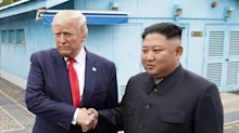 A new photo of Trump with Kim Jong Un was hung in the White House next to one of him with Queen Elizabeth