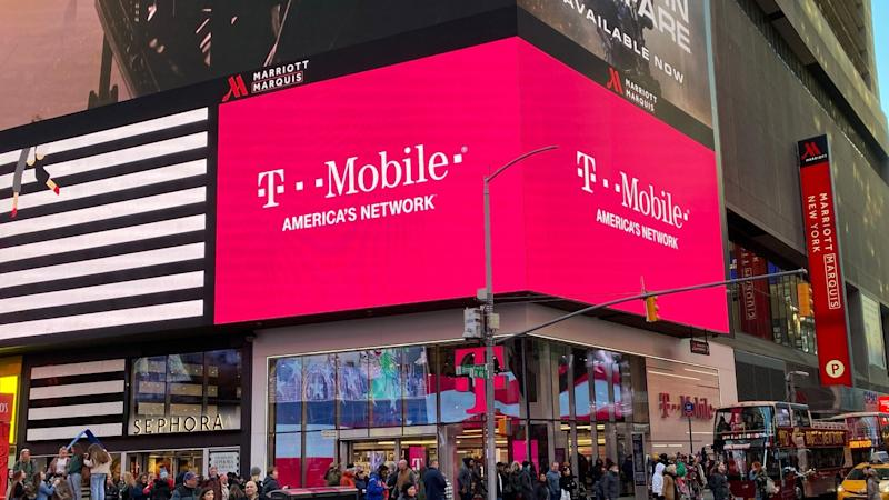 Eine Filiale des Mobilfunkproviders T-Mobile US am Times Square in New York.