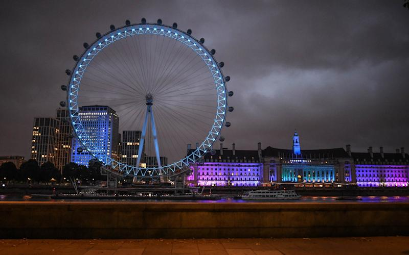 The London Eye in blue - Peter Summers/Getty Images