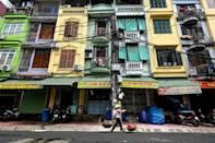 A narrow architectural style evolved from the limited available space in Hanoi