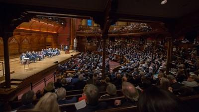 Member Induction ceremony for the American Academy of Arts and Sciences, held at Memorial Hall, Cambridge, MA on October 2017.