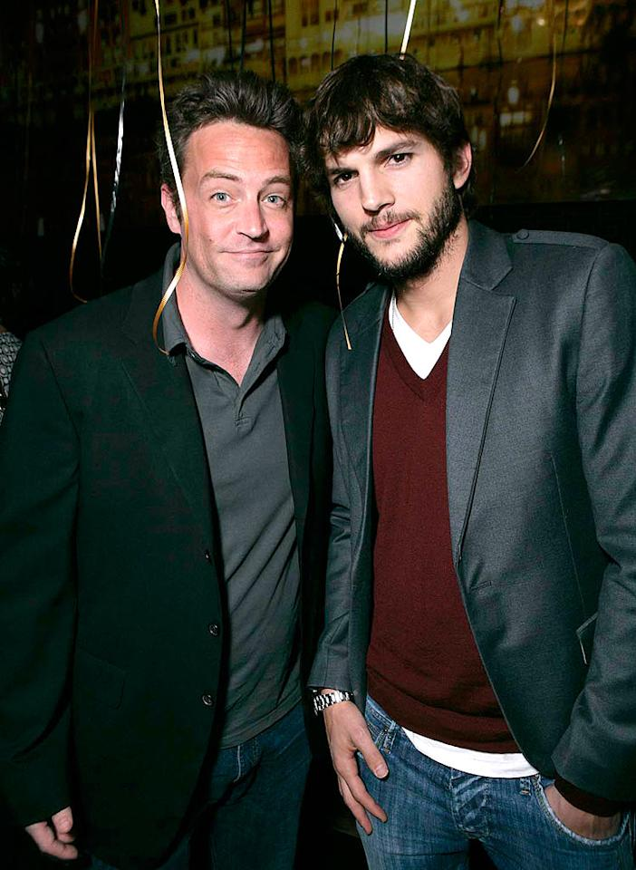"""Matthew Perry looks thrilled to be celebrating the fifth anniversary of Ashton Kutcher's Italian restaurant, Dolce, in Los Angeles. Todd Williamson/<a href=""""http://www.wireimage.com"""" target=""""new"""">WireImage.com</a> - May 20, 2008"""