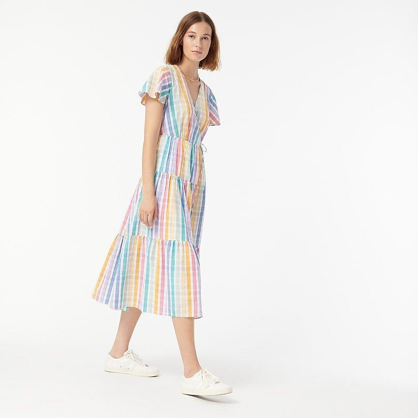 """<br><br><strong>J.Crew</strong> Faux-wrap dress in rainbow gingham, $, available at <a href=""""https://go.skimresources.com/?id=30283X879131&url=https%3A%2F%2Fwww.jcrew.com%2Fp%2Fwomens%2Fcategories%2Fclothing%2Fdresses-and-jumpsuits%2Ffaux-wrap-dress-in-rainbow-gingham%2FAW791%3Fdisplay%3Dsale%26fit%3DClassic%26isFromSale%3Dtrue%26color_name%3Drainbow-multi%26colorProductCode%3DAW791"""" rel=""""nofollow noopener"""" target=""""_blank"""" data-ylk=""""slk:J. Crew"""" class=""""link rapid-noclick-resp"""">J. Crew</a>"""