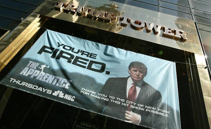 """On Mr Trump's reality TV show, his catchphrase was """"You're fired!"""""""