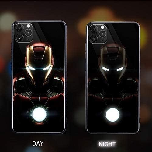 <p>How cool is this <span>Marvel Iron Man Hero Call Led Flash Luminescent Glass Case</span> ($27)!? The LED light can change colors and dimmness. </p>