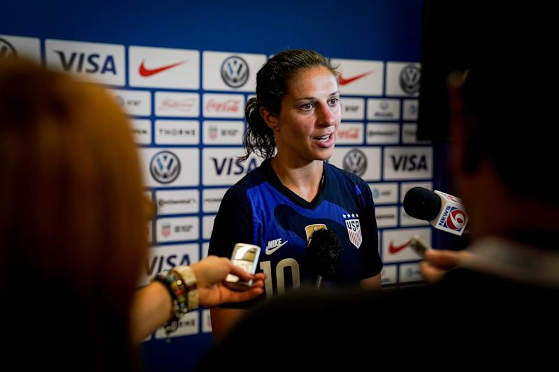 ORLANDO, FL - MARCH 05: Carli Lloyd #10 of the United States during a game between England and USWNT at Exploria Stadium on March 05, 2020 in Orlando, Florida. (Photo by Brad Smith/ISI Photos/Getty Images)