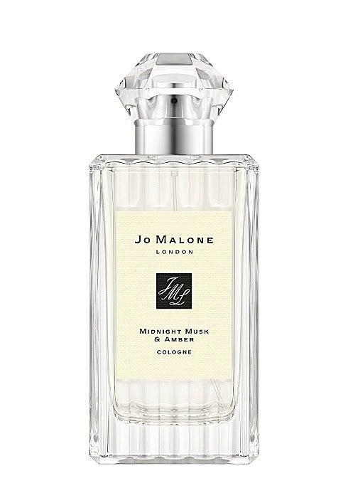 """Crystallised juniper berry and mandarin give this a sparkling sweetness but snug amber and powdery musk provide an autumnal contrast. It's like a fluffy comfort blanket on a freezing cold evening and you'll want to spritz it constantly. <br><br><strong>Jo Malone</strong> Midnight Musk & Amber Cologne, $, available at <a href=""""https://www.jomalone.co.uk/product/25946/80653/colognes/midnight-musk-amber-cologne?size=100ml"""" rel=""""nofollow noopener"""" target=""""_blank"""" data-ylk=""""slk:Jo Malone"""" class=""""link rapid-noclick-resp"""">Jo Malone</a>"""