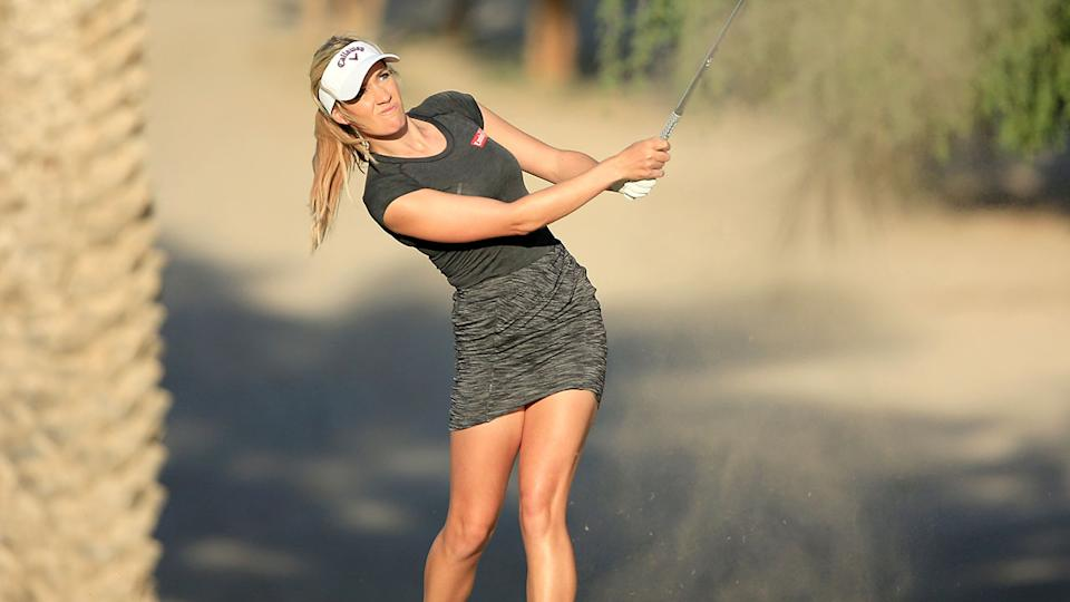 Paige Spiranac, pictured here at the 2015 Omega Dubai Ladies Masters.