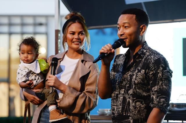 Chrissy Teigen, depicted with husband John Legend and their son Miles, is celebrating the boy's second birthday. (Photo: Amanda Edwards/WireImage)
